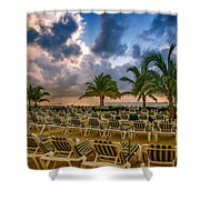 Mahogany Bay Beach-roatan-honduras Shower Curtain