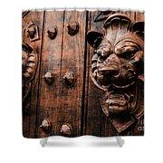 Mahogany Lion Heads Shower Curtain