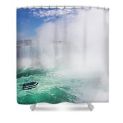 Maid Of The Mist Boat Tours Taking Shower Curtain