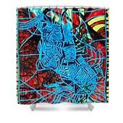 Maiden In Blue - Mary In The Temple Shower Curtain