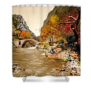 Maidens Bridge - Ura E Vashes Shower Curtain