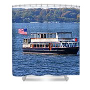 Mail Delivery Boat Lake Geneva Wisconsin Shower Curtain