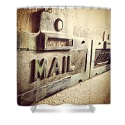 Mail Lost In Time Shower Curtain