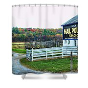 Mail Pouch Tobacco Barn In The Fall Shower Curtain