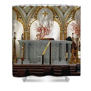 Main Altar Saint Jospehs Cathedral Buffalo New York Shower Curtain