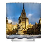 Main Building Of Moscow State University On Sparrow Hills - 2 - Featured 3 Shower Curtain
