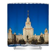 Main Building Of Moscow State University On Sparrow Hills Shower Curtain
