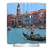 Main Canal Venice Italy Shower Curtain