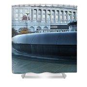 Main Fountain State Capital Shower Curtain