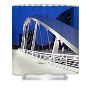 Main Street Bridge Shower Curtain