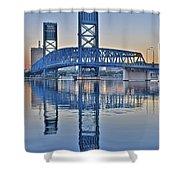 Main Street Bridge Jacksonville Florida Shower Curtain