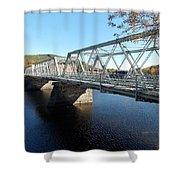 Main Street Bridge Shelbourne Falls  Shower Curtain