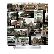 Main Street Disneyland Collage 02 Shower Curtain