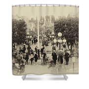 Main Street Disneyland Heirloom Shower Curtain
