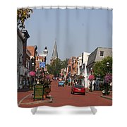 Main Street In Downtown Annapolis Shower Curtain