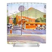 Main Street In Morning Shadows Shower Curtain