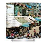 Main Street Marketplace In Tachilek-burma Shower Curtain