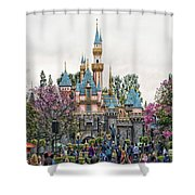 Main Street Sleeping Beauty Castle Disneyland 01 Shower Curtain