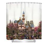 Main Street Sleeping Beauty Castle Disneyland 02 Shower Curtain