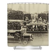 Main Street Transportation Disneyland Heirloom Shower Curtain