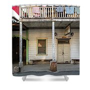 Main Street With Shops And Museum Shower Curtain