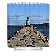 maine 43 Portland Lighthouse Shower Curtain