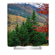 maine 57 Baxter State Park Loop Road Fall Foliage Shower Curtain