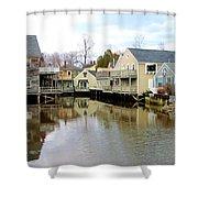 Maine Backwater Shower Curtain