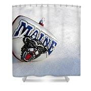 Maine Black Bears Ornament Shower Curtain