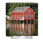 Maine Boat House Shower Curtain