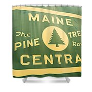 Maine Central The Pine Tree Route Shower Curtain