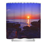 Maine Coast Sunrise Shower Curtain