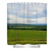 Maine Farmland Shower Curtain