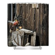 Maine Fishing Buoys And Nets Shower Curtain