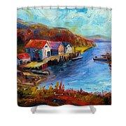 Maine Harbor Shower Curtain