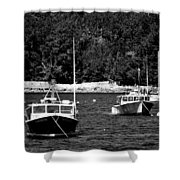 Maine Lobster Boats Shower Curtain