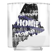 Maine Map Cool Shower Curtain