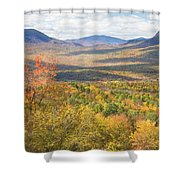 Maine Mountains In Fall Mount Blue State Park  Shower Curtain