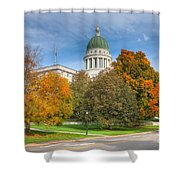 Maine State House Vii Shower Curtain