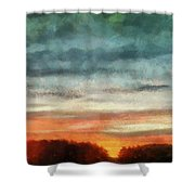 Maine Sunset Shower Curtain