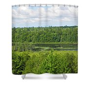 Mainely Green Shower Curtain