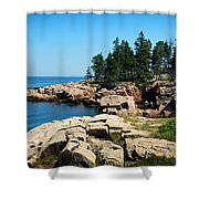 Maine's Rocky Coastline Shower Curtain