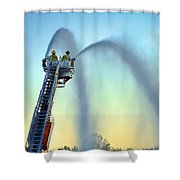 Mainstream At Sunset Shower Curtain by Leeon Photo