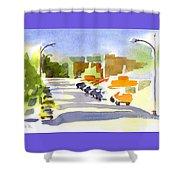 Main Street In Evening Shadows Shower Curtain