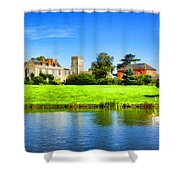 Maisemore Court And Church 2 Shower Curtain