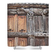 Maison De Bois Macon - Detail Wood Front Shower Curtain