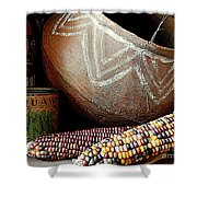 Pottery And Maize Indian Corn Still Life In New Orleans Louisiana Shower Curtain