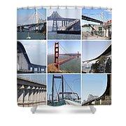 Majestic Bridges Of The San Francisco Bay Area Shower Curtain