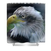 Majestic Eagle Of The Usa - Featured In Feathers And Beaks-comfortable Art And Nature Groups Shower Curtain