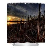 Majestic Lake Sunset Shower Curtain